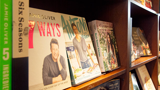 Lifestyle books in retail store
