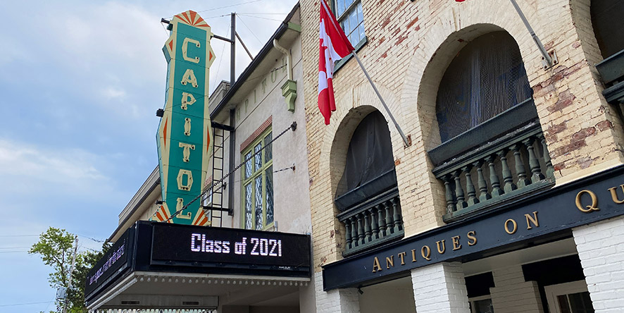Exterior view of Capitol Theatre in downtown Port Hope