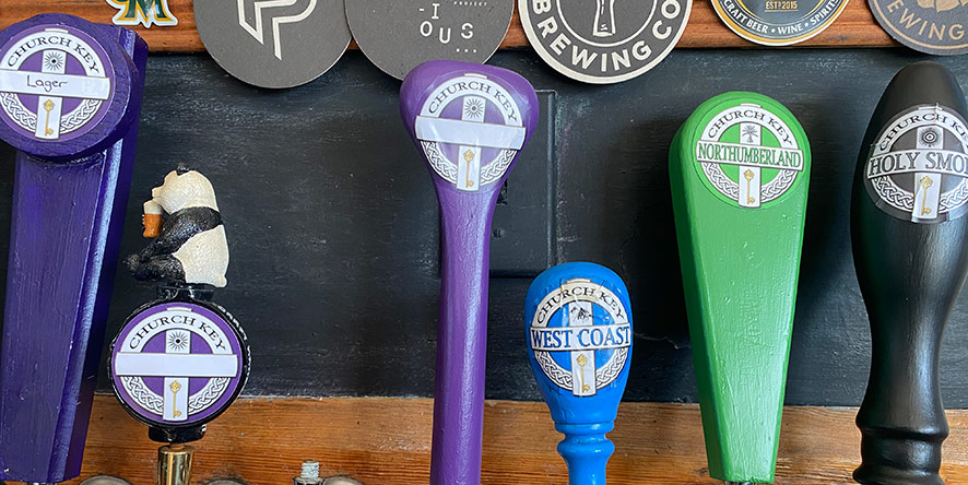 Handles showing what's on tap at local pub