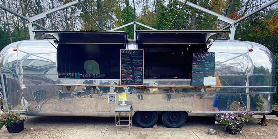 Airstream trailer converted to a food truck open for business