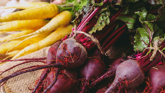 Beets and yellow carrots