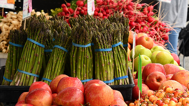 Fresh produce at farm stand