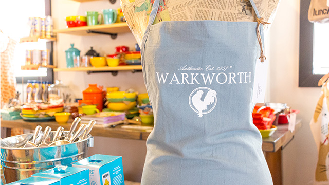 Warkworth Apron on display in retail store