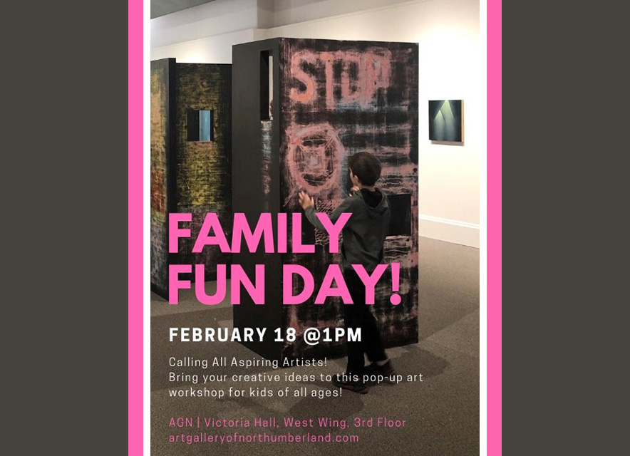 Family Day at Art Gallery of Northumberland poster graphic