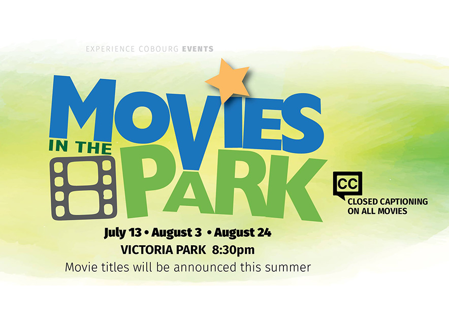 Movies in the Park Cobourg logo on white background