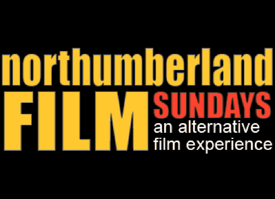 Northumberland Film Sundays logo on black background