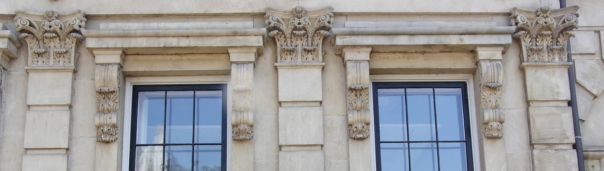 Architectural detail on Victoria Hall in Cobourg