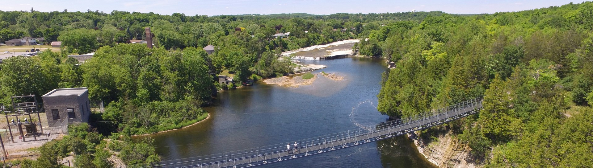 View of Trent River below Ranney Gorge Suspension Bridge