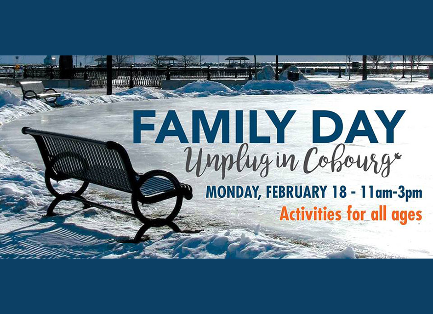 Family Day 2019 activities in Cobourg poster graphic